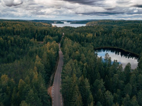 Open road in Sweden